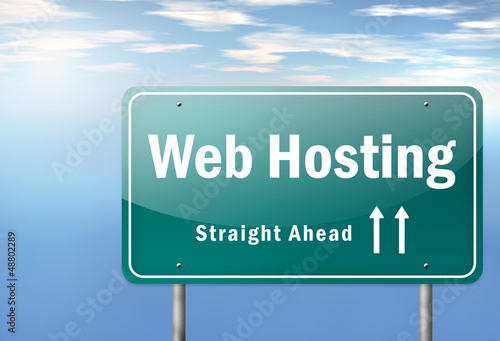 "Highway Signpost ""Web Hosting"""