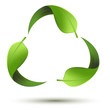 Recycle Symbol with Leaf