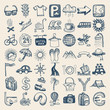 49 hand drawing icon set, travel theme