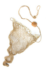 Fishing net on a white background.
