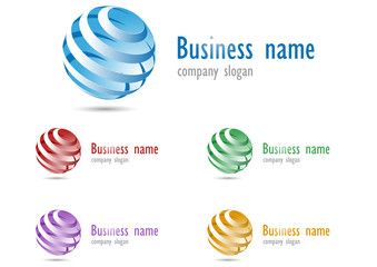 Business logo 3D glossy sphere