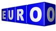 Euro blue cubes