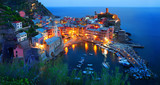Cinque Terre, Vernazza at the blue hour