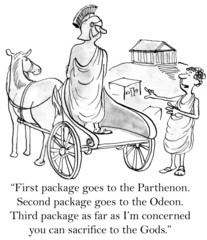 Greek customer needs packages delivered to ancient sites