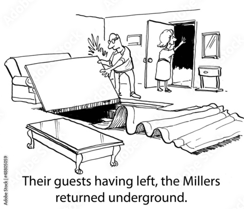 The Millers have an underground safe room