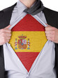 Business man with Spanish flag t-shirt