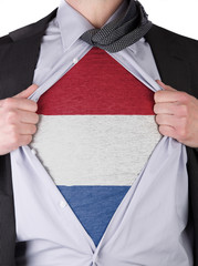 Business man with Dutch flag t-shirt