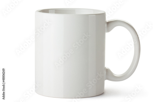 Foto op Canvas Thee White ceramic mug
