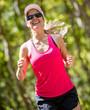 Atheltic woman running