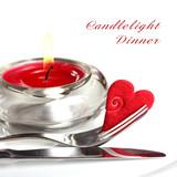 Fototapety Candlelight Dinner mit Beispieltext