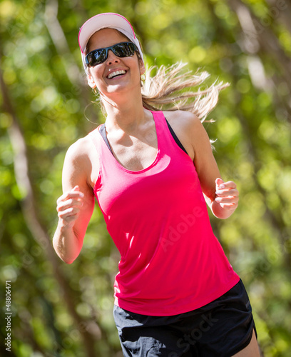 Atheltic woman running