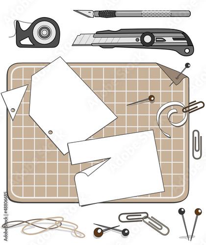 Papier, Schneide- und Heftwerkzeuge