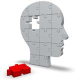 Fototapety Kopf mit Puzzle