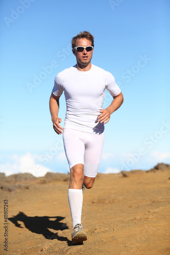 Athlete sports fitness runner running