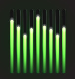 Equalizer glossy glowing track bar