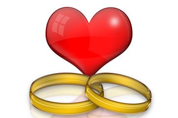 Herz und Ringe