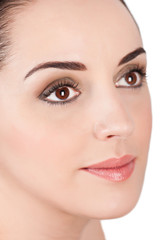Portrait of young beautiful woman with day style natural make up