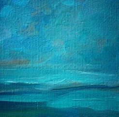 sea landscape oil on a canvas,  illustration, painting