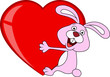 Rabbit embrace heart love