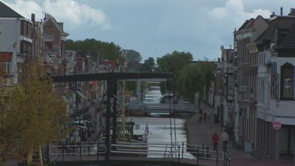 Canal running through village in Maassluis