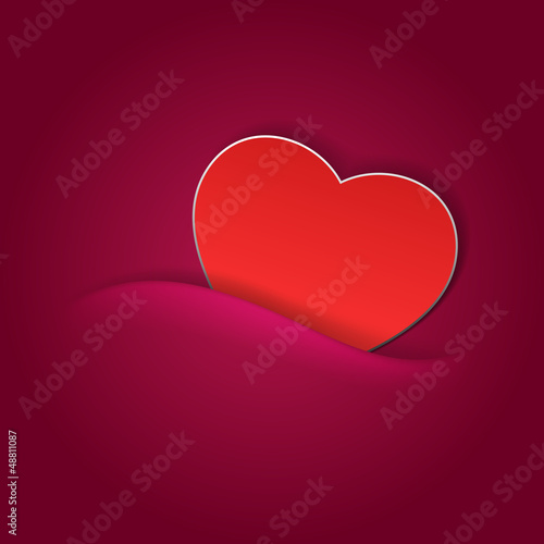 Valentines day card with heart