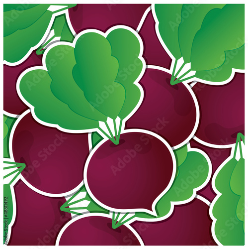 Beet sticker card in vector format.