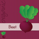 Bright organic Beetroot card in vector format.
