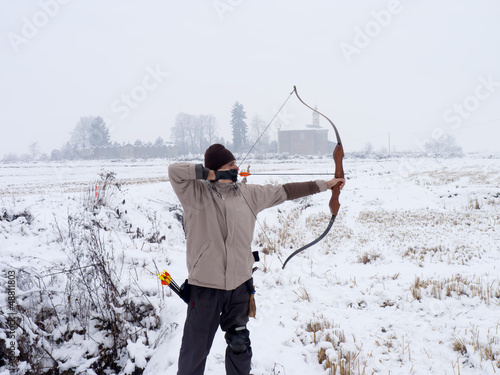 archer in winter time
