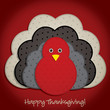 Spotty turkey Thanksgiving card in vector format.