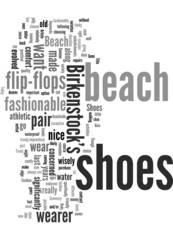 Beach Shoes are the New Summer Fashion Trend Concept