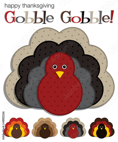 Spotted turkey stickers in vector format.