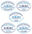 Passport stamps from Greece