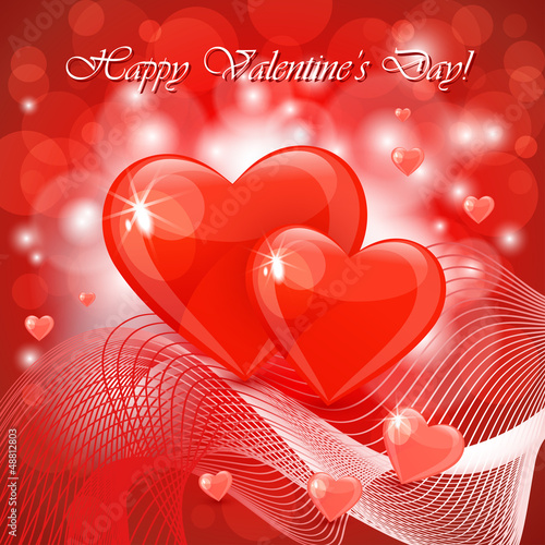 Valentine's day background with abstract hearts