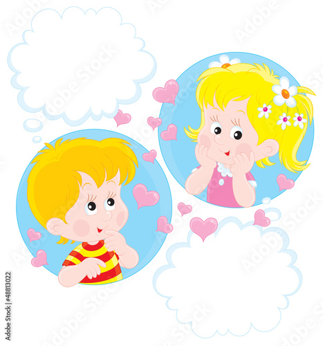 Girl and Boy dreaming