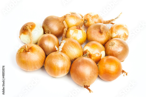 Group of ripe onion