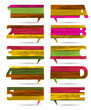 Vector colorful wooden presentations with letters and numbers