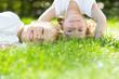 Leinwanddruck Bild - Happy children playing