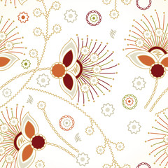 Seamless zigzag floral background