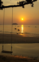 Sunset on the island of Koh Chang, Thailand
