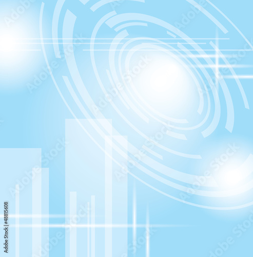 light blue vector abstract futuristic background - eps10