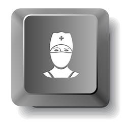Doctor. Vector computer key.