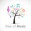 Logo Tree of Music # Vector