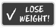 CB-Sticker TF eckig oc LOSE WEIGHT!