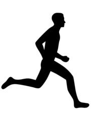 Icon eines Joggers – schwarz, freigestellt und Vektor