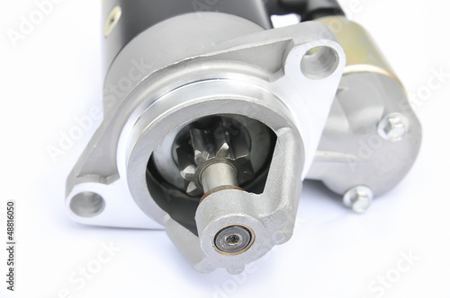 starter motor on an isolated background