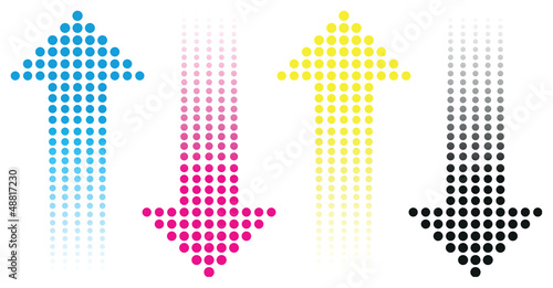 cmyk arrow background