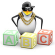 Penguin rapper learns to read