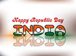 Abstract illustration for Happy Republic Day in grey background.