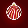 Christmas background. Sticker ball.