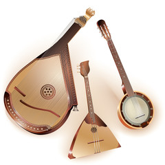 Collection of  traditional string plucked instruments
